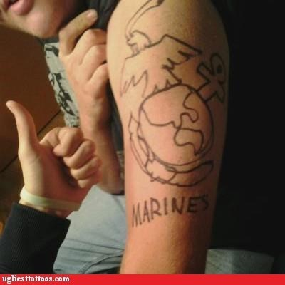 arm tattoos,marines