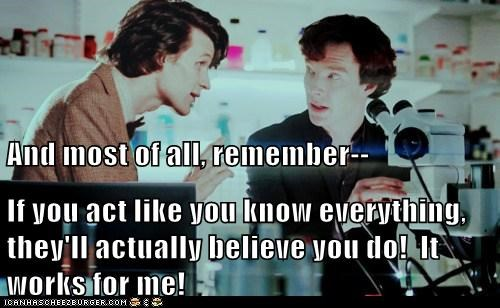 benedict cumberbatch the doctor Matt Smith doctor who act Sherlock - 6628572160