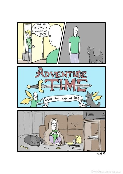 adventure time,girlfriend,Videogames,with the dog