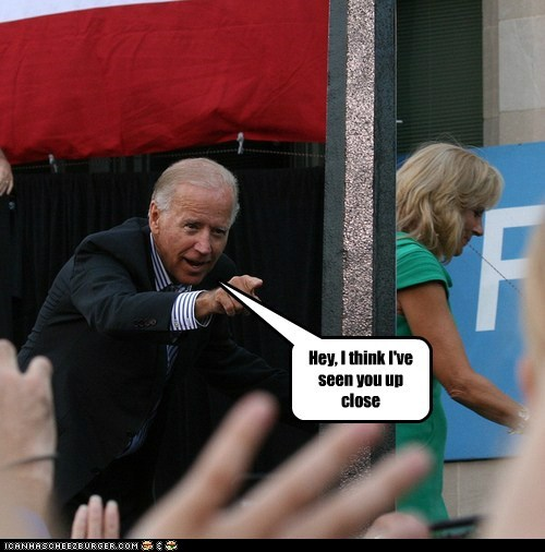 joe biden Jill Biden innuendo up close pointing