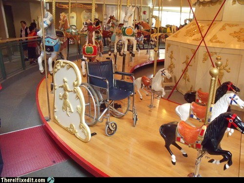 merry go round wheelchair disabled handicap carousel - 6628628736