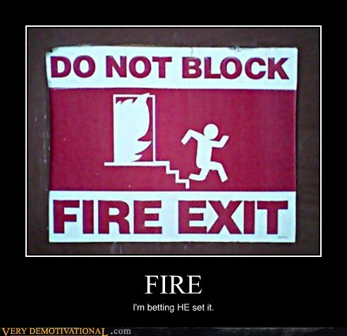 fire,sign,run,guilty