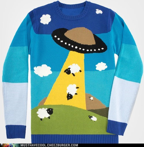 ufo sweater sheep abduct - 6628680448