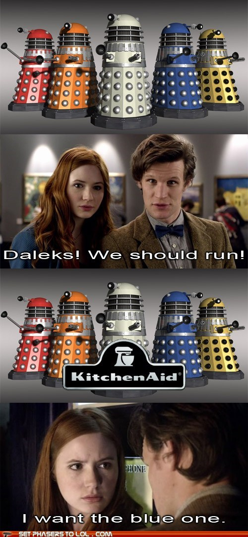 logo,kitchenaid,mixer,karen gillan,colors,the doctor,daleks,Matt Smith,doctor who,amy pond