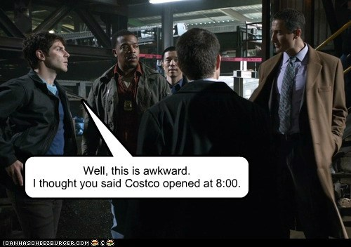 russell hornsby,hank griffin,grimm,Awkward,waiting,david giuntoli,costco,open,nick burkhardt