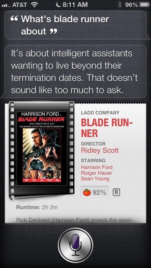 Blade Runner movies robot apocalypse robots siri - 6628875520