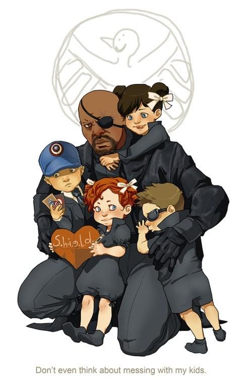 art cute funny superheroes The Avengers - 6628925440