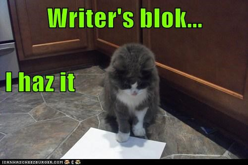 Writer's blok... I haz it