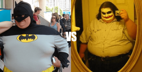 batman,joker,fat,obese