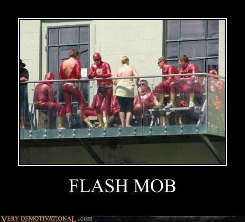 costume flash Flash Mob