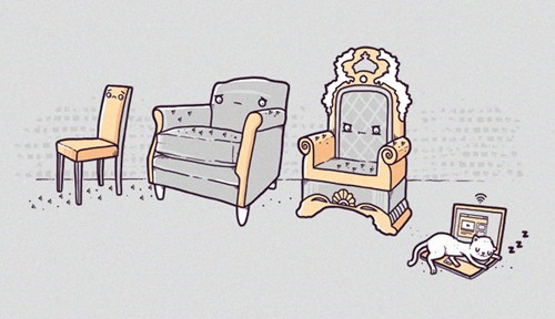 annoying Cats chairs computers illustrations in the way laptops seats - 6629110528
