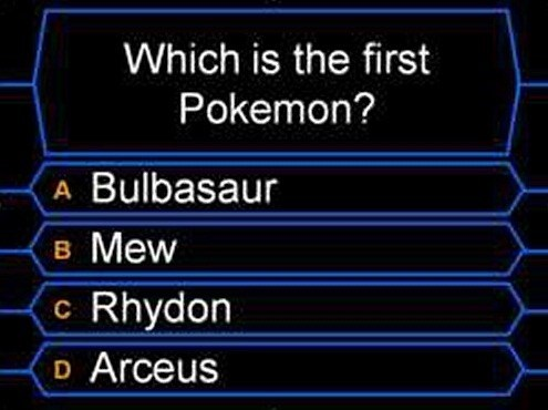 first pokemon,multiple choice,trick question