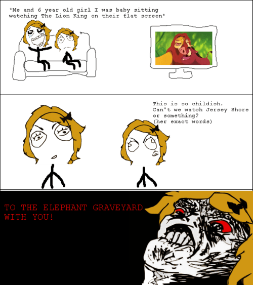 Rage Comics,lion king,jersey shore
