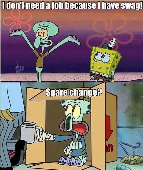 bum hobo homeless spare change SpongeBob SquarePants squidward categoryimage - 6629201152