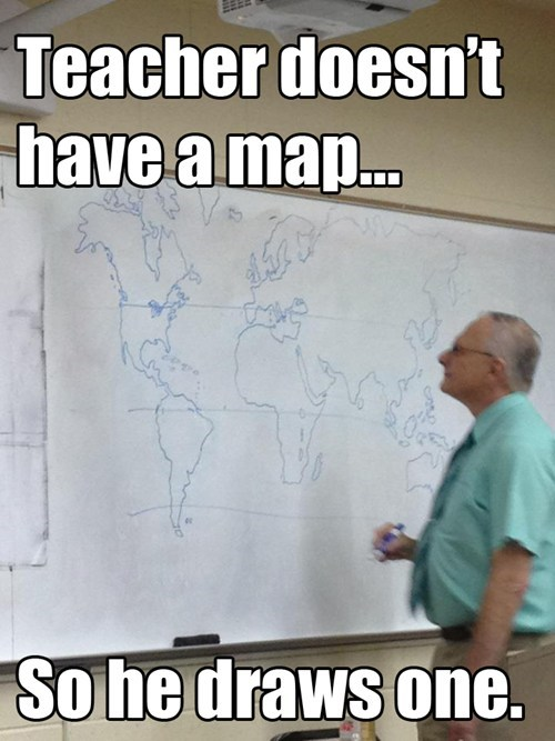 hand drawn real map teachers - 6629249792