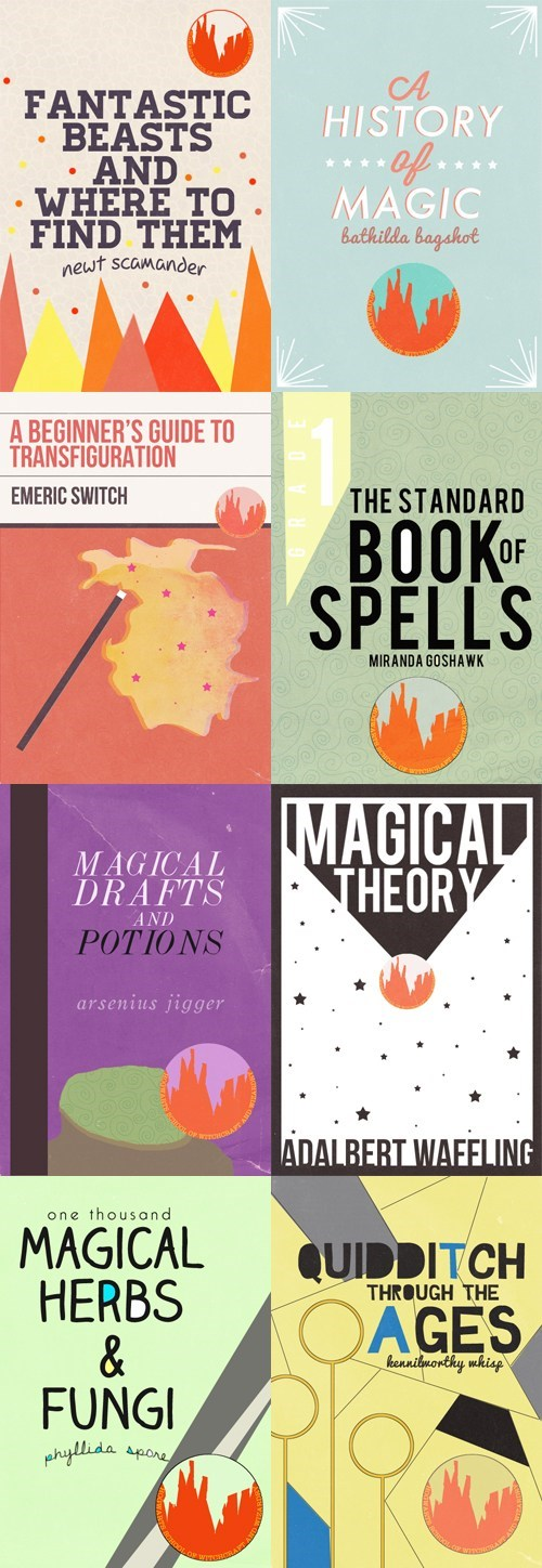 books cover art Harry Potter Hogwarts textbooks - 6629269248