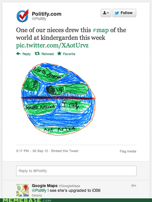 google,ios6,Maps,niece,the world,twitter,we are the children,categoryvoting-page