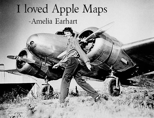 amelia earhart apple maps misquotes - 6629316608