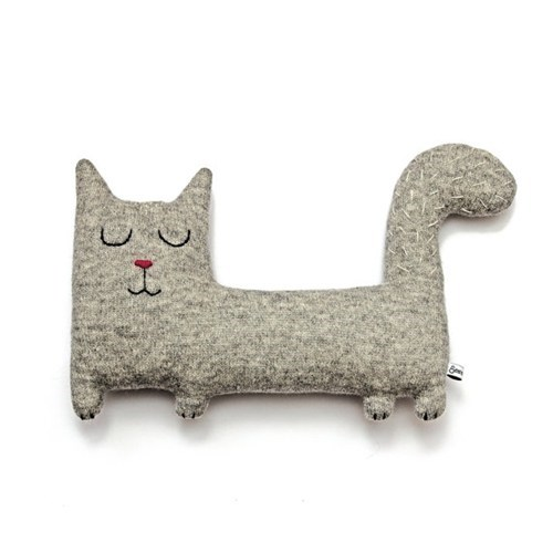 cat etsy grey kitty made to order Plush - 6629358080