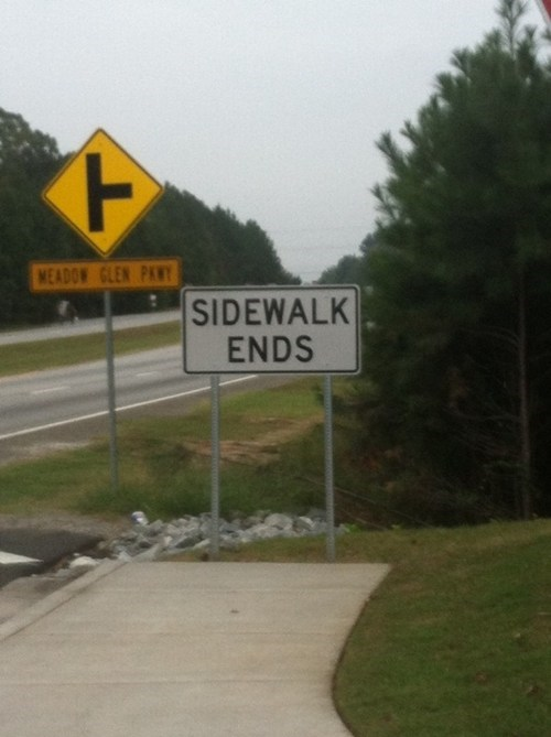 duh,obvious,sidewalk,sign,you dont say
