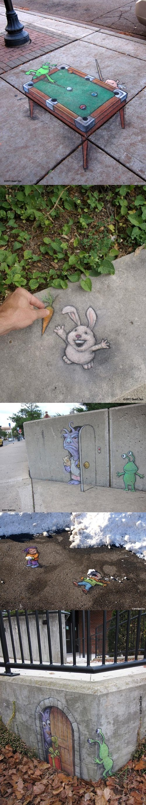 3d,Aliens,chalk art,cool