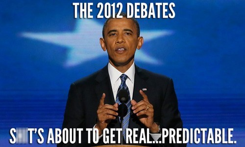 barack obama Debates election 2012 predictable real - 6629417216