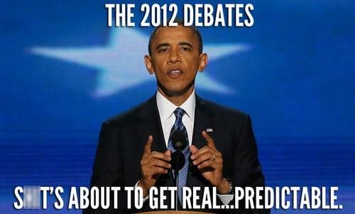 barack obama Debates election 2012 predictable real - 6629417216
