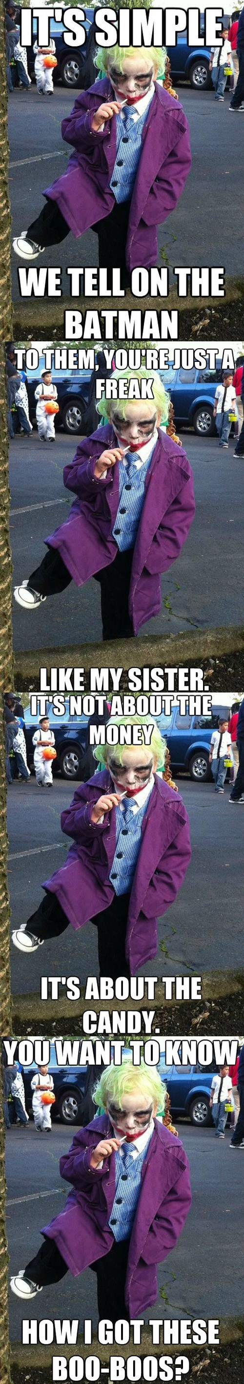 costume joker kid meme scars the dark knight the joker