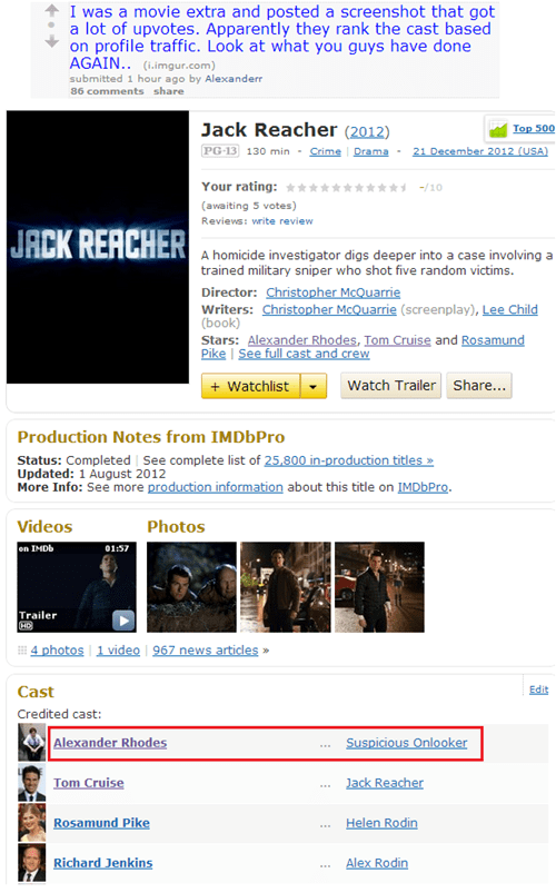 alexander rhodes jack reacher movies Reddit Tom Cruise - 6629597184