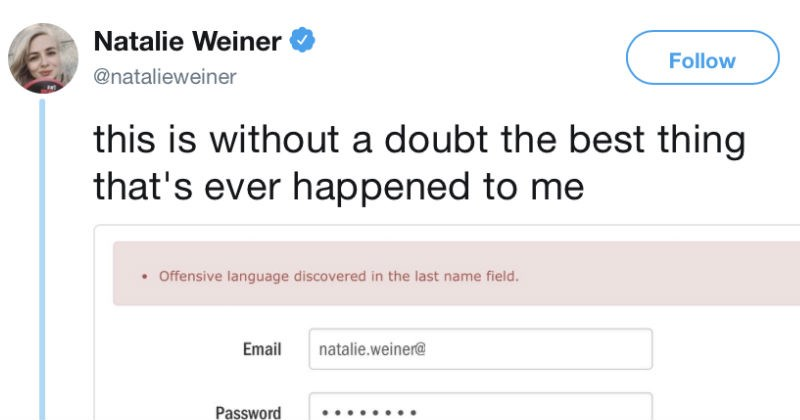butt twitter weiner names silly dumb funny censorship email offensive - 6629637