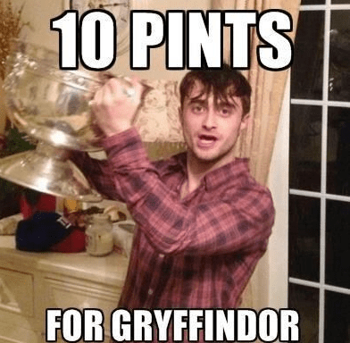 10 pints 10 points for Gryffindor Daniel Radcliffe Harry Potter