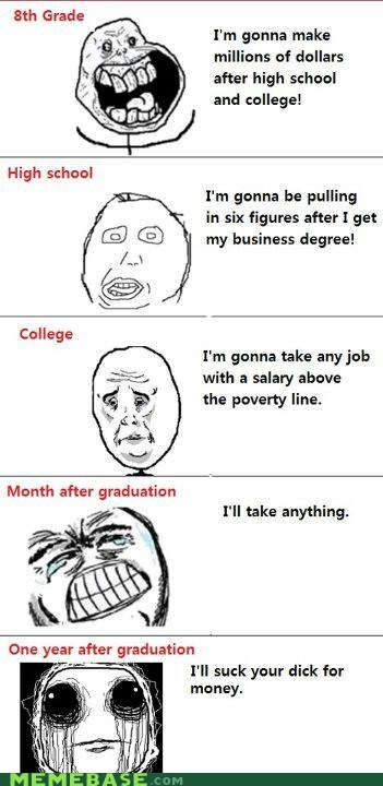 expectations,jobs,money,school