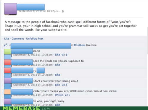 grammar facebook your vs youre - 6629869568