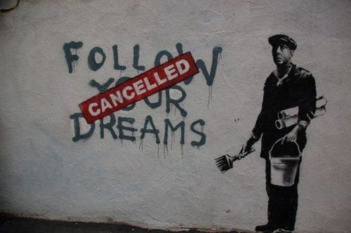 dreams graffiti hacked irl ouch right in the feels Street Art - 6629925632