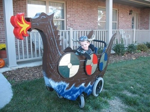 BAMF best of week costume Hall of Fame halloween viking wheel chair - 6629926144