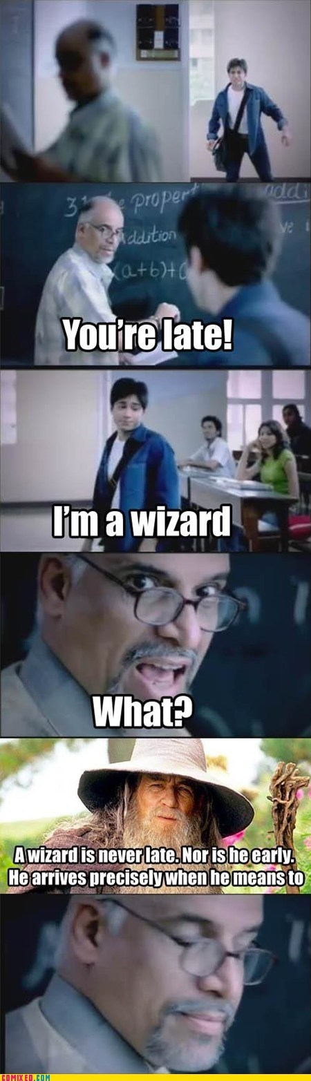 late,Lord of the Rings,school,tardy,wizard
