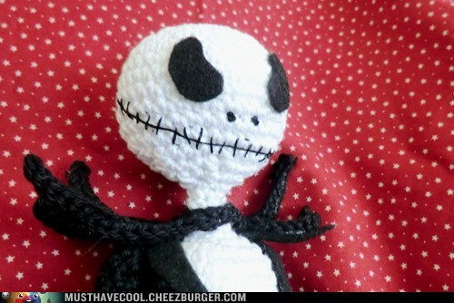 Amigurumi jack skellington nightmare before christmas Plush yarn categoryimage - 6630445568