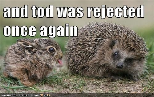annoying sticking tongue out rejected hedgehog bunny - 6630642432