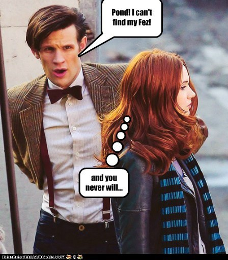 destroyed karen gillan the doctor FEZ cant-find Matt Smith hidden never will know doctor who amy pond