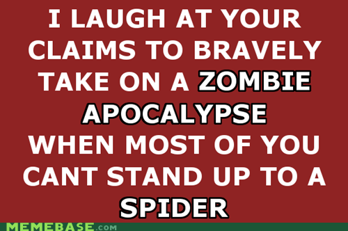bravery,guys come on,spiders,zombie