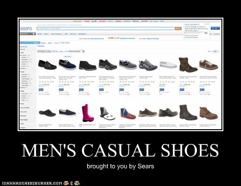 MEN'S CASUAL SHOES brought to you by Sears