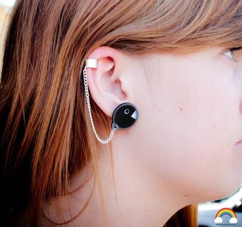 chain chomp earrings for sale Super Mario bros video games - 6631300096