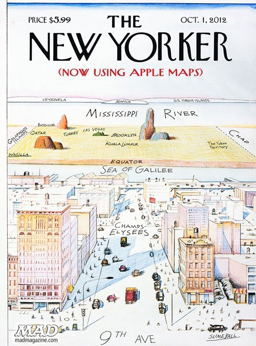 apple maps,New Yorker