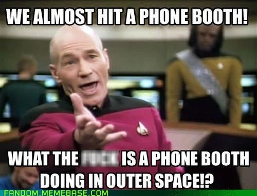 Star Trek picard phone booth - 6631549440