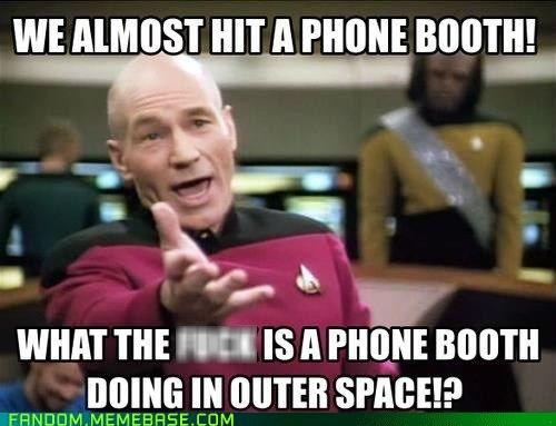 Star Trek picard phone booth - 6631549440