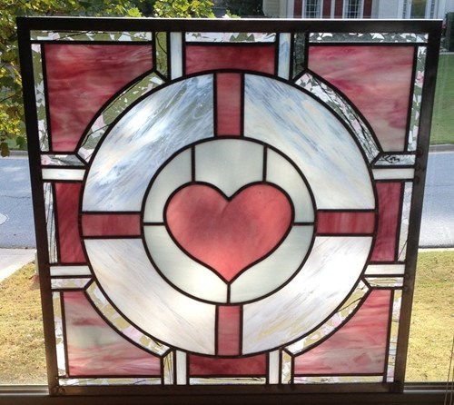 companion cube,Portal,stained glass