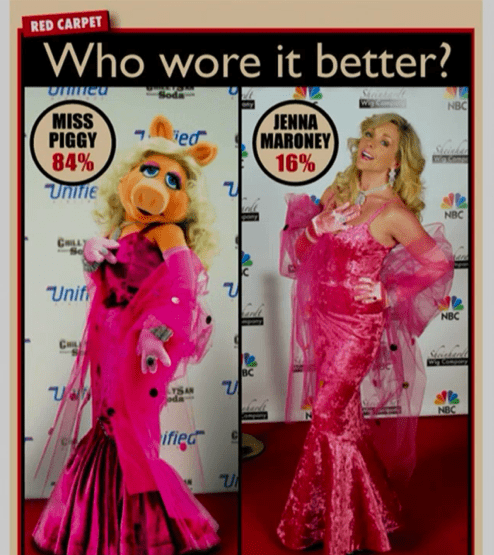 jenna maroney,miss piggy,red carpet