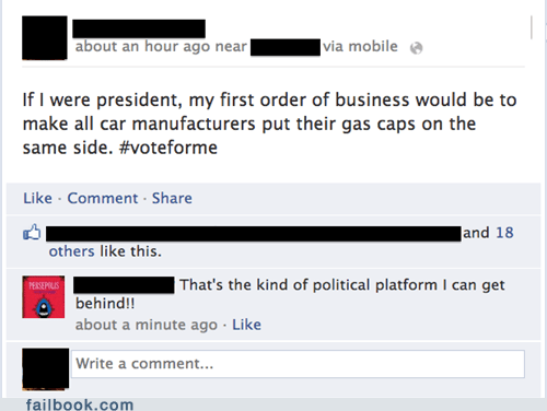president,gas cap,gas station,gas prices,political platform