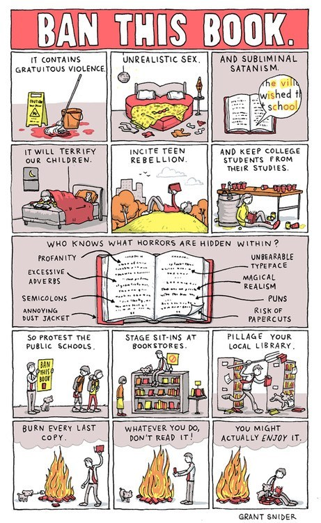 ban this book,banned books,grant snider,lemony snicket