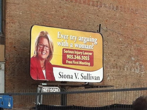 arguing with a woman ad win siona sullivan injury lawyer attorney lawyer categoryimage - 6631724544